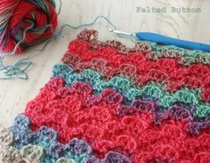Felted Button - Colorful Crochet Patterns: ::Crochet Design and Vintage Find::