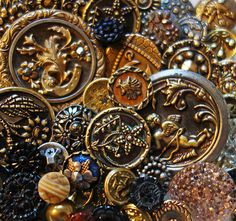 Wonderful Lot of 50 Beautiful Antique Vintage Victorian Collectible Buttons | eBay