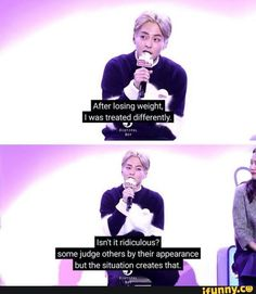 Xiumin speaking the truth