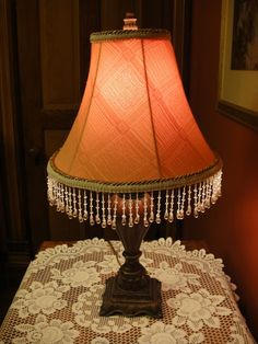 How to make a Victorian lampshade - with DIY on the blog