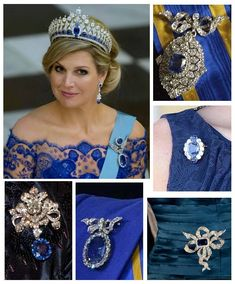 Queen Maxima of The Netherlands Royal Crown Jewels, Royal Crowns, Royal Tiaras, Royal Jewelry, Tiaras And Crowns, Jewellery, Dutch Royalty, Queen Maxima, Royal House