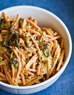 tahini-curry-carrot-salad, just made this...SO GOOOOD!!!