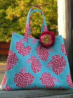 7ad3d627990e How to sew plain pocket into a basic tote. Also