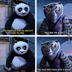 Kung Fu Panda 2. I love the whole panda-goose relationship haha