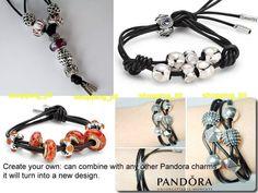 71619ca76 Pandora Grey Fabric Lariat Necklace/Bracelet & Silver Tips 100cm  390961CGY-100 Grey Fabric