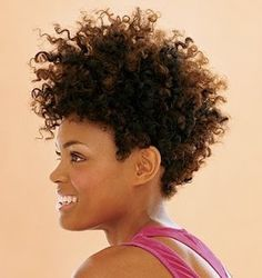 Curly frohawk. To learn how to grow your hair longer click here - http://blackhair.cc/1jSY2ux