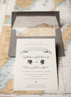 Oh So Beautiful Paper: Kate + Conor's Travel-Inspired Letterpress Wedding Invitations