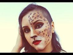 ▶ #5 Leopard girl / maquillaje de leopardo / Halloween - YouTube