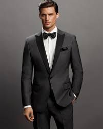Charcoal tuxedo with contrasting lapel