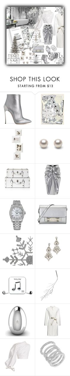 """""""Snow, snow 🎼🎼❄️❄️❄️"""" by miky83 ❤ liked on Polyvore featuring Casadei, Yves Saint Laurent, Rolex, Proenza Schouler, Ben-Amun, Happy Plugs, A by Amara, Christofle, Jacquemus and Cole Haan"""