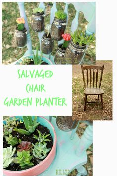 Salvaged Chair Garden Planter