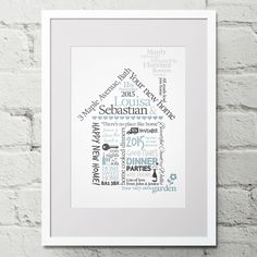 New Home Gift House Warming Print Personalised Word Art
