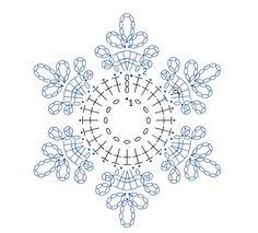 Čitanje šeme za heklanje-pahulje - Her Crochet Crochet Snowflake Pattern, Crochet Stars, Christmas Crochet Patterns, Crochet Snowflakes, Thread Crochet, Easy Crochet Patterns, Christmas Knitting, Crochet Diagram, Crochet Motif