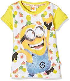 Universal - T-Shirt Minions, Camiseta para niñas, amarillo, 4 #camiseta #realidadaumentada #ideas #regalo