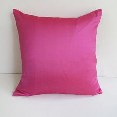 cerise pink dupioni silk throw pillow 18 inch IN STOCK sale 30% off can be custom made