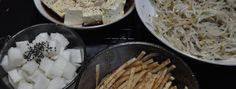 Spain vs Korea Recipes Face-Off: Small Plates: Spain Tapas vs Korea Banchan! (Part II) Spain Vs, Face Off, Small Plates, Coconut Flakes, Feta, Tapas, Spicy, Korean, Cooking