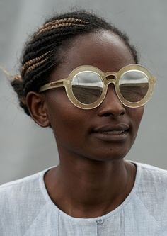 afrikani:  Sunglass designer Karen Walker's ads for the S/S2014...