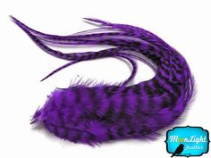 Moonlight Feather Hair Extension Feathers Purple Grizzly Thick Rooster Feathers 115 Inches Long and Up 6 Pieces Per Pack * Details can be found by clicking on the image.(This is an Amazon affiliate link and I receive a commission for the sales)