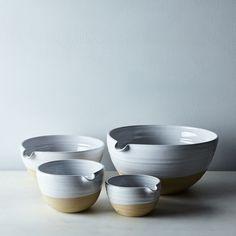 Pantry Mixing Bowls on Food52 Ceramic Bowls, Ceramic Pottery, Stoneware, Slab Pottery, Ceramic Art, Pottery Bowls, Pottery Shop, Pottery Wheel, Earthenware