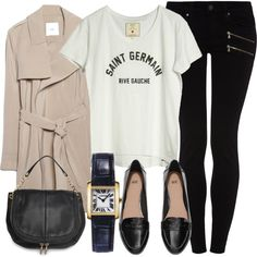 Untitled #3957 by laurenmboot on Polyvore featuring moda, Loft Design By..., MANGO, Paige Denim, H&M and Cartier