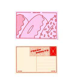 Delectable postcards celebrating food.
