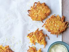 Carrots bring an earthy sweetness to these crispy, latke-like pancakes. To reheat, place on a baking sheet, and heat in a 325° oven until warmed through. View Recipe: Potato and Carrot Pancakes with Curry Sauce