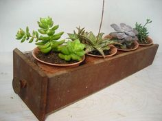 old wooden drawer window planter/ storage by ManMadeSole on Etsy.