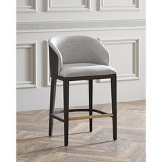 Hooker Furniture Laurie Upholstered Barstool (£595) ❤ liked on Polyvore featuring home, furniture, stools, barstools, ivory, upholstered stool, upholstered barstools, upholstered bar stools, upholstered counter height stools and ivory bar stools