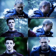 """#TheFlash 3x22 """"Infantino Street"""" - Barry and Snart"""