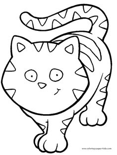 cat color pages printable | free printable Cats coloring pages and sheets can be found in the Cats ...