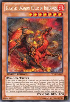 If this card is in your hand or Graveyard: You can banish a total of 2 FIRE and/or Dragon-Type monsters from your hand and/or Graveyard, except this card; Special Summon this card. During your opponent's End Phase, if this card was Special Summoned: Return it to the hand. You can discard this card and 1 FIRE monster to the Graveyard, then target 1 card on the field; destroy that target. If this card is banished: You can add 1 FIRE Dragon-Type monster from your Deck to your hand. You can…