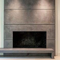 Naturecast Concrete fireplace surrounds add a unique look to any space. Tiled Fireplace Wall, Fireplace Tile Surround, Linear Fireplace, Basement Fireplace, Fireplace Seating, Brick Fireplace Makeover, Concrete Fireplace, Fireplace Hearth, Home Fireplace