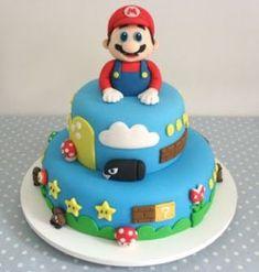 110 IDEIAS PARA FESTA MARIO BROS - FAÇA SUA FESTA Mario Birthday Cake, Super Mario Birthday, Super Mario Party, Super Mario Bros, Mario Bros Cake, Bolo Do Mario, Bolo Super Mario, Pretty Cakes, Cute Cakes