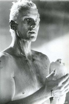 Rutger Hauer Blade Runner (1982). Coolest character in the coolest movie ever. Time to die...