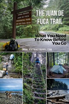 hiking backpack design Planning to backpack the 47 km Juan de Fuca Trail on the west coast of Vancouver Island? West Coast Trail, Banff, China Beach, Hiking Tips, Hiking Gear, Hiking Food, Hiking Pants, Camping Tips, Hiking Shoes
