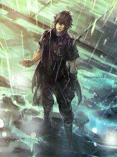 Final Fantasy XV / Noctis Lucis Caelum Plus Final Fantasy Xv, Final Fantasy Artwork, Final Fantasy Characters, Fantasy Series, Fantasy World, Manga Anime, Got Anime, Fanart Manga, Anime Guys