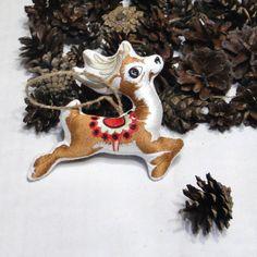First Christmas Ornament Deer Santa Tree от LeatherBagsBackpacks