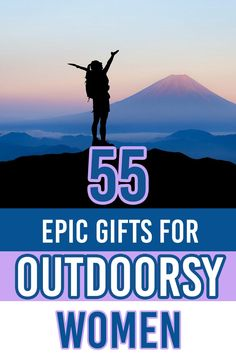 Shopping for an outdoor loving woman in your life? This gift guide has got you covered! CLick through for 55 epic gifts for outdoorsy women that outdoor women will be sure to use and love! | Gift ideas for women | Gifts for outdoor women | Gifts for outdoor loving women | Gifts for hikers | gifts for outdoorsy women | Hiking Gifts, Travel Gifts, Travel Items, Travel Products, Travel Essentials, Travel Hacks, Travel Advice, Travel Guide, Travel Reviews