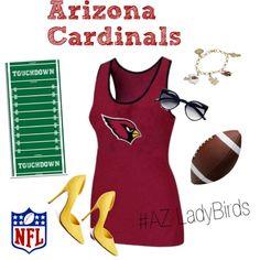 """""""AZ Cardinals 6-1"""" by arizonaladybirds on Polyvore"""