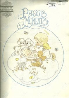 PRECIOUS MOMENTS Cross Stitch Pattern Book  Vintage by KenyonBooks, $5.95