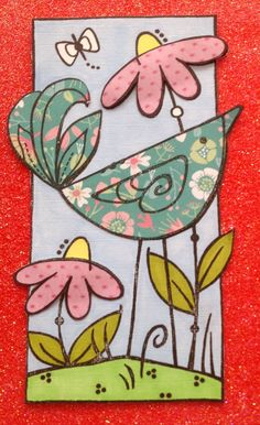 Woodware stamp Daisy Bird