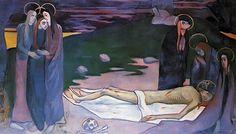 BERNARD Emile,1890 - Pietà -   « La mémoire ne retient pas tout, mais ce qui frappe l'esprit. Donc formes et couleurs devenaient simples, dans une égale unité. En peignant de mémoire, j'avais l'avantage d'abolir l'inutile complication des formes et des tons ; il restait un schéma du spectacle regardé. » (Emile BERNARD)