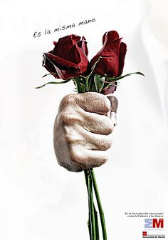 It is the same hand! Work to end domestic violence. The Ugly Truth, Creative Advertising, Domestic Violence, Beautiful Soul, Plant Hanger, Graphic Design, 25 November, Drawings, Sentences