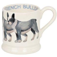 EMMA BRIDGEWATER POTTERY NEW 2016 HALF PINT MUG French Bulldog in Pottery, Porcelain & Glass, Pottery, Bridgewater | eBay
