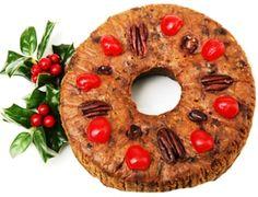 Laura's Ice Box Fruit Cake-sub dried peaches for raisins. Best Fruitcake, Christmas Desserts, Christmas Fruitcake, Christmas Cakes, Holiday Foods, Christmas Goodies, Gourmet, Christmas, Desserts