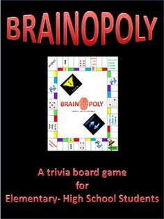 a trivia board game for elementary to high school students