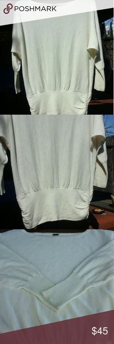 Cream Colored Free People Light Sweater Gently used. And well kept especially for such a light, neutral color. No rips, tears, stains or holes. Very come over a tankini. Free People Sweaters Cardigans