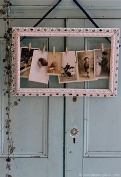 Notes From A Stylist – Decorating With Vintage Portraits and Photographs - Great ideas for displaying vintage photos and other vintage items with a bit of whimsy! Shabby Chic Kitchen, Shabby Chic Homes, Shabby Chic Pink, Shabby Chic Decor, Picture Frame Decor, Decorating With Picture Frames, Interiors Magazine, Home Decor Pictures, Cute Home Decor