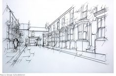Mary's Street 525x800mm Linear Works are drawings inspired by commonplace objects.