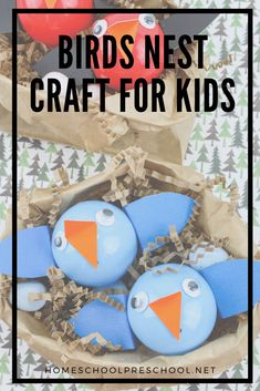 Children of all ages will enjoy making this adorable baby birds nest craft! It's a great addition to your spring lessons or your bird unit study. #birdsnestcraft #birdsnestcraftforkids #craftforkids #homeschoolprek